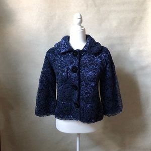 Marc Jacobs Cashmere Knit with Blue Metallic Lace